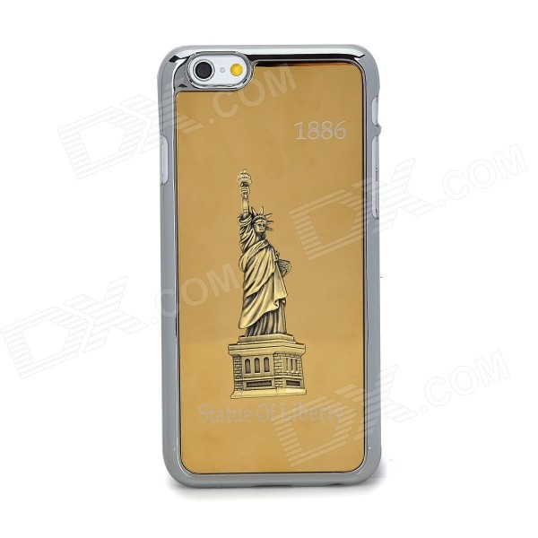 Statue of Liberty Pattern Protective Titanium Alloy + Plastic for IPHONE 6 - Golden