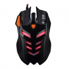 JIANSHENGYIZU JS-X3-HEISE Professional 5-Key 2400dpi USB Wired Game Mouse - Black (150cm-Cable)