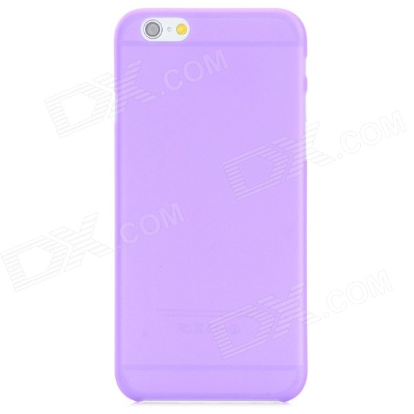 0.3mm Caja protectora Mate PC Volver Ultra-delgada para IPHONE 6 - Translucent Purple
