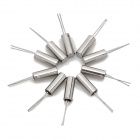 3 x 8mm Cylindrical Iron Passive Crystals - Silver (10 PCS)