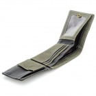 WB-2097 Men's Casual Retro Punk Style Zipper PU Wallet - Army Green