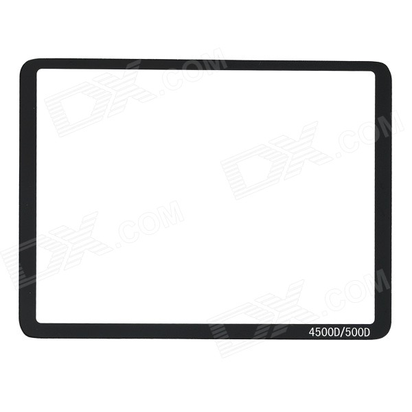 Protective Glass LCD Screen Protector Film for Canon 450D / 500D - Transparent + Black