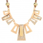 SHIYING W8104 Women's Fashion Rhinestone Inlaid Zinc Alloy Pendant Necklace - Golden