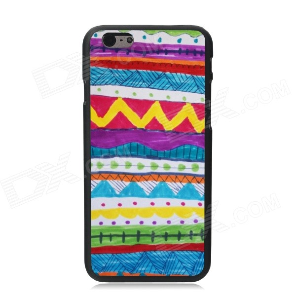 Elonbo Beautiful Hand Drawing Stripe Pattern Plastic Hard Back Cover for IPHONE 6 - Multicolored elonbo beautiful stripe plastic hard back cover for iphone 6 4 7 inch