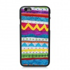 Elonbo Beautiful Hand Drawing Stripe Pattern Plastic Hard Back Cover for IPHONE 6 - Multicolored