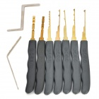 B104 Steel Computer Lock Pick Tool Set - Grey + Silver (7 PCS)
