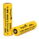 TangsFire IMR18650 3.7V 1800mAh Rechargeable Li-ion 18650 Batteries - Black + Yellow (2 PCS)