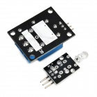 2-in-1 5V Relay Module + IR Transmitting Sensor Module Set - Black + Blue