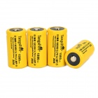 TangsFire IMR18350 3.7V 1000mAh Rechargeable Li-ion 18350 Batteries - Black + Yellow (4 PCS)