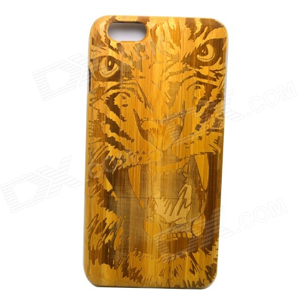 Tiger Pattern Detachable Protective Bamboo Back Case for IPHONE 6 PLUS - Yellow