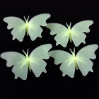 Butterfly-shaped Glow-in-the-Dark Decoration Wall Stickers Decals - Green (4 PCS)