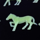 Animal-forme de Glow-in-the-dark Décoration Stickers muraux Stickers - Vert (12 PCS)