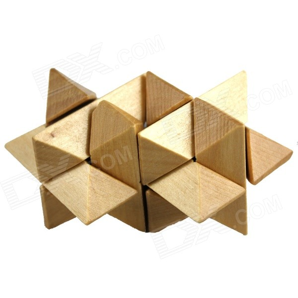 Educational Wooden Puzzle Unlocking Toy for Kids / Children - Wood