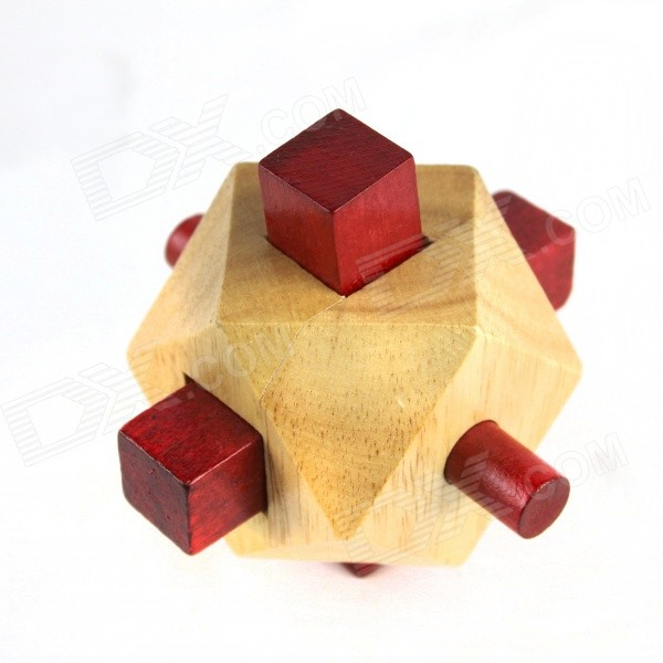 Educational Wooden Polygon Ball Puzzle Unlocking Toy for Kids / Children - Wood