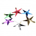 Christmas Gold-plated Star Pendants Decorations - Blue + Multi-Colored (6 PCS)