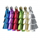 Christmas Gold-plated Christmas Tree Pendants Decorations - Blue + Multi-Colored (6 PCS)