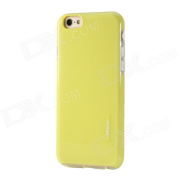 ROCK Jello Series Protective PC + TPU Back Case for IPHONE 6 4.7 - Yellow аксессуар чехол rock jello protective shell for iphone 6 white 69439
