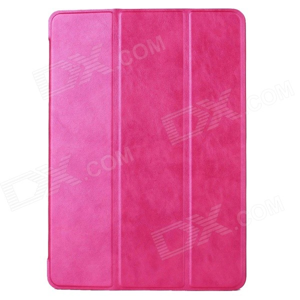 Mr.northjoe 3-Fold Protective PU Leather Case Cover Stand w/ Auto Sleep for IPAD AIR 2 - Deep Pink devia pine needle pattern 3 fold protective pu leather case cover w stand for ipad air golden