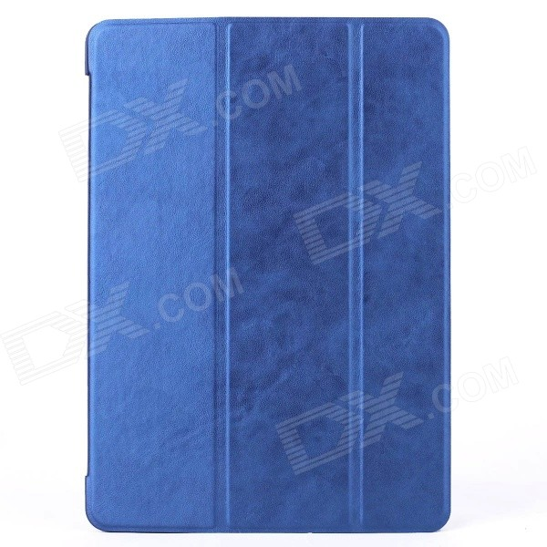 Mr.northjoe 3-Fold Protective PU Leather Case Cover Stand w/ Auto Sleep for IPAD AIR 2 - Deep Blue devia pine needle pattern 3 fold protective pu leather case cover w stand for ipad air golden