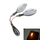 Motorcycle LED 2W 112lm 17-LED Yellow Light Steering / Brake Lamps - Black