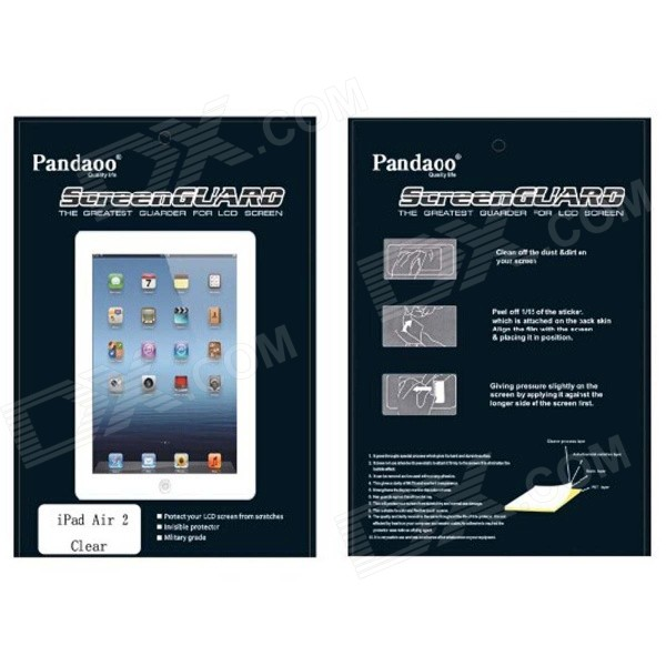 Pandaoo High Transparent Screen Protector with Cleaning Cloth for IPAD AIR 2 - Transparent