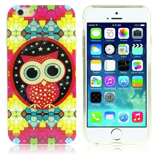 DF-026 Owl Pattern Protective TPU Back Case for IPHONE 6 - Multicolored tpu material protective back case cover owl pattern for iphone 5c