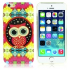 DF-026 Owl Pattern Protective TPU Back Case for IPHONE 6 - Multicolored