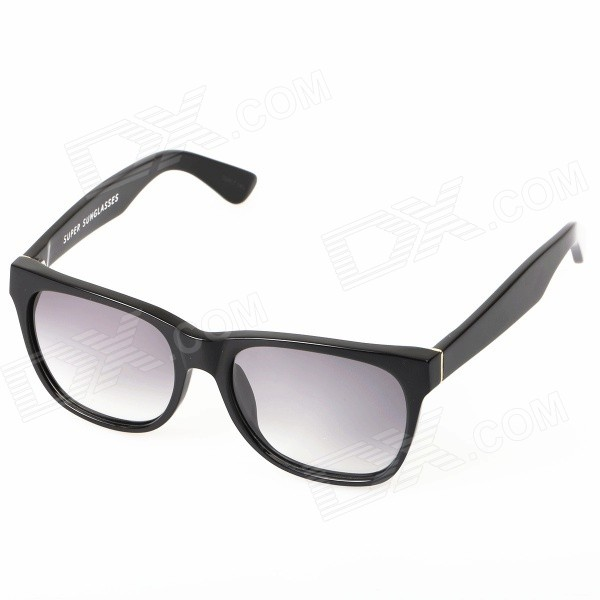 Unisex Fashionable UV400 Protection PC Frame PC Lens Sunglasses - Black + Grey fashion sunglasses with colorful frame 100% proof uv protection square eyeglass unisex