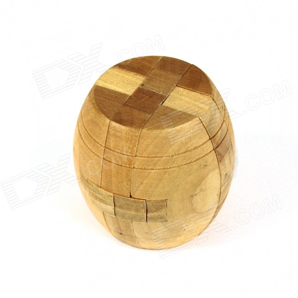 Educational Wooden Cask Puzzle Unlocking Game Toy for Kids / Children - Wood