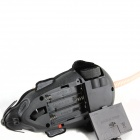 Electric Plastic + Plush Mouse Toy - Black