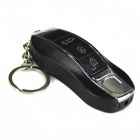 Tricky Electrocution Car Keychain Shaped Practical Joke Toy - Black + Silver