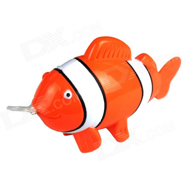 Pull Ring Plastic Tropical Fish Shaped Toy - Orange + White + Multi-Color корм tetra tetramin xl flakes complete food for larger tropical fish крупные хлопья для больших тропических рыб 10л 769946