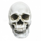 Halloween 2-in-1 Emulational Resin Skull Decoration - Yellow-white