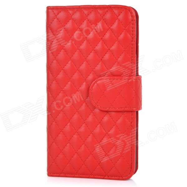 все цены на  Protective Flip-Open Sheepskin Case Cover w/ Card / Money Slots for IPHONE 6 PLUS - Red  онлайн