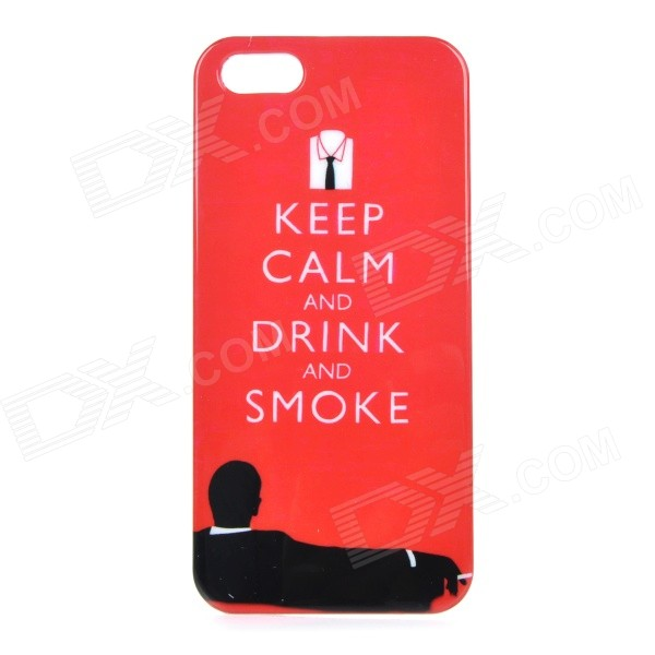 все цены на Protective Patterned ABS Back Case Cover for IPHONE 5 / 5S - Red + Black онлайн