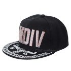 "WB-09241 ""MDIV"" Pattern Hip-Hop Style Four Seasons Hat - Black + White"