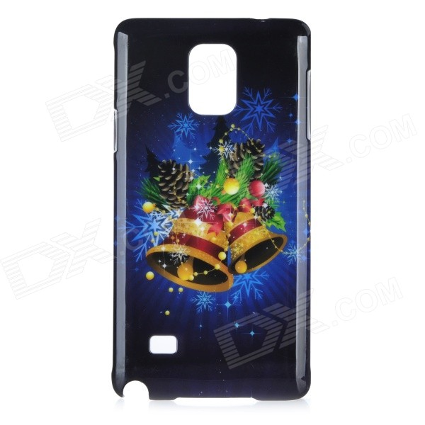 HW04 Christmas Jingle Bell Pattern Protective PC Back Cover Case for Samsung Galaxy Note 4 - Black 2 in 1 detachable protective tpu pc back case cover for samsung galaxy note 4 black