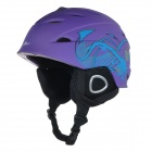 AIDY 618 Lightweight Comfortable PC + EPS Skiing Helmet - Deep Purple