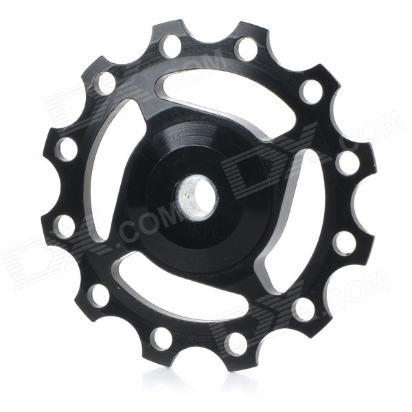 Bike Bicycle 12T Aluminum Alloy Wheels Rear Derailleur Pulley - Black