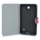 Sunshine Elephant Pattern PU Flip-Open Case w/ Stand for Samsung Galaxy Tab 4 / T230 / T231 / T235