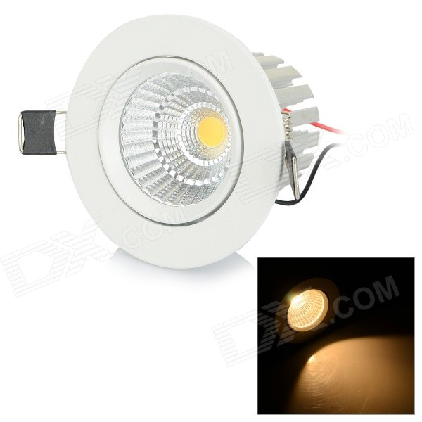 7W 700lm 3500K COB Warm White Light Ceiling Lamp - Silver + White (AC 85~265V)