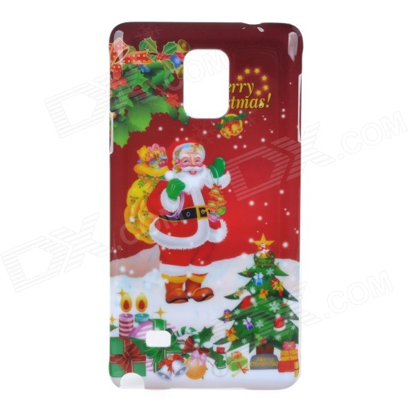 Christmas Santa Claus Pattern Protective PC Back Cover Case for Samsung Galaxy Note 4 santa claus hat chair back cover for christmas dinner decoration cap