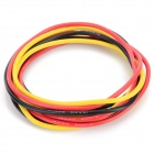 Universal 14AWG Soft Silicone Wires - Black + Red + Multi-Color (3 PCS)