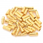 3.5mm Copper Plating Banana Plug Jack Connector Set - Golden (20 Pairs)