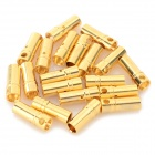 3.5mm Copper Plating Banana Plug Jack Connector Set - Golden (20PCS)