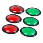 HL-8565 Car Vehicle Reflective Bumper Protector Guard Sticker - Red + Green