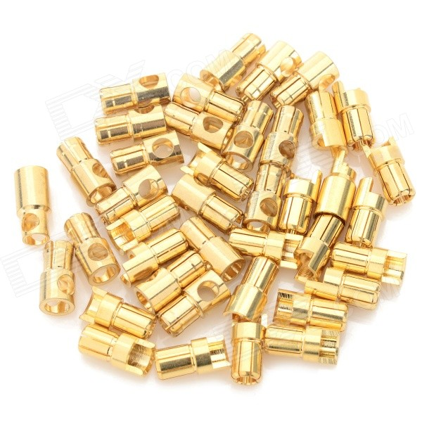 6.0mm Gold Plated Banana Plug Jack Connector Set - Golden (20 Pairs) gold plated loudspeaker cable banana plugs connectors black golden 5 pcs
