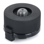 Outdoor Camping Picnic Stove Burner Conversion Head Adapter for Long Gas Tank - Black