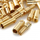 Universal 5.0mm Modelos DIY oro masculino + Mujer chapado de Banana Connector Set - Golden (20 pares)