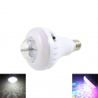 AOSL W883-5 E27 8W 640lm 7-LED RGB + White Auto Rotating Crystal Stage Light - White (AC85~260V)
